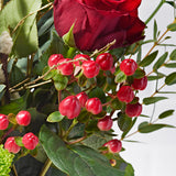 Boutique Letterbox Flowers - Red Roses & Red Hypericum - Letterbox Bouquets - Postabloom Flower delivery app