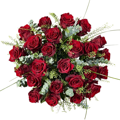 24 Red Roses - Hand-tied Bouquets - Postabloom Flower delivery app