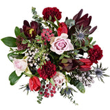 Vintage Dream Flower Delivery - Pink Roses & Red Tulips - Hand-tied Bouquets - Postabloom Flower delivery app
