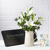 Morning Dew Letterbox Flowers - White Roses & Lisianthus - Letterbox Bouquets - Postabloom Flower delivery app