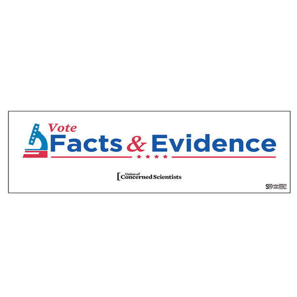 Vote Facts & Evidence bumper sticker