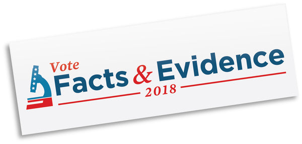 Vote Facts & Evidence 2018 bumper sticker