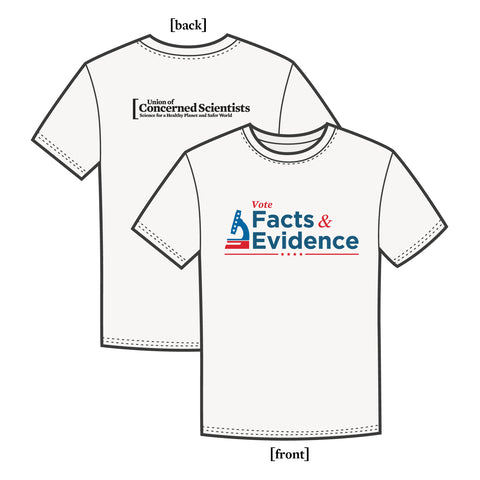 Vote Facts & Evidence tee-shirt