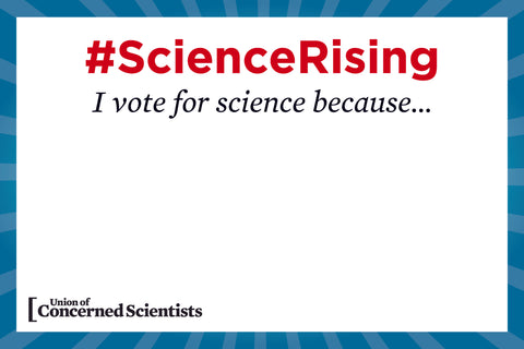 "FREE Downloadable March Sign-Making Template - ""I Vote for Science"""