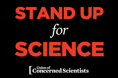 FREE Downloadable Stand Up for Science Placard