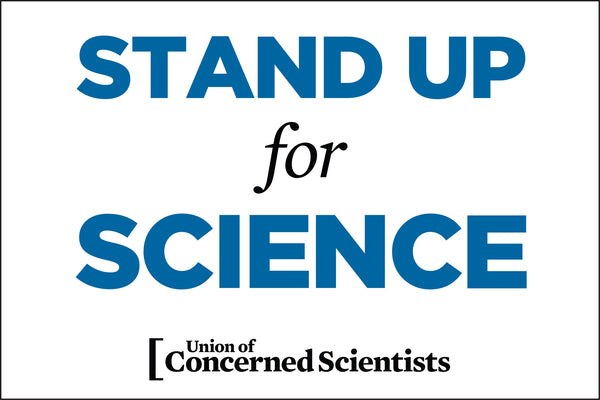 "FREE Downloadable March Sign - ""Stand Up for Science"""