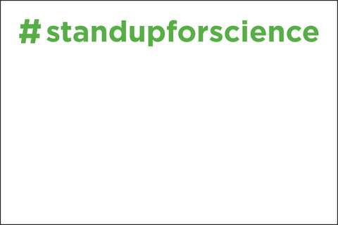 "FREE Downloadable March Sign-Making Template - ""Stand Up for Science"""
