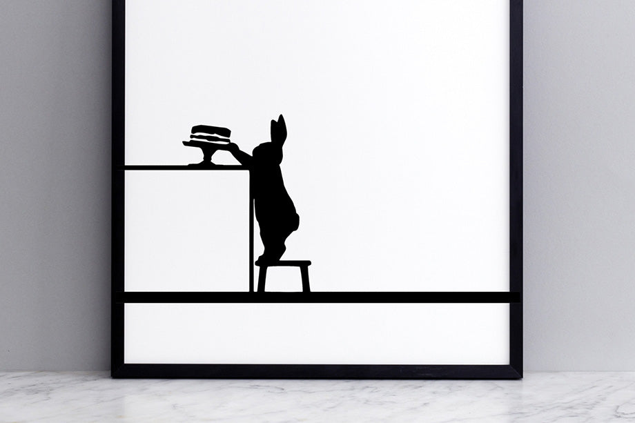 HAM studio by Joanna Ham - rabbit prints designed and hand screen printed in London, UK
