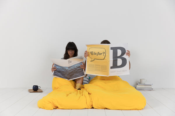 Bundle Beds - Sunshine Navy Yellow Camping, Glamping and Sleepover Bed - Sleep Anywhere. 10% discount for newsletter subscribers