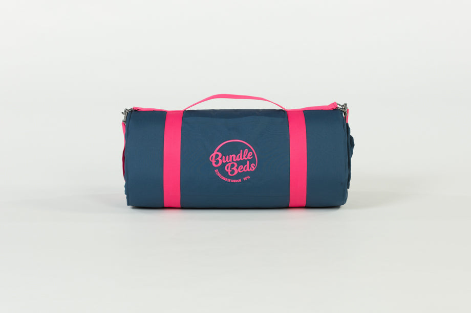 Bundle Beds - Sunset Navy Pink Camping, Glamping and Sleepover Bed - Sleep Anywhere. 10% discount for newsletter subscribers