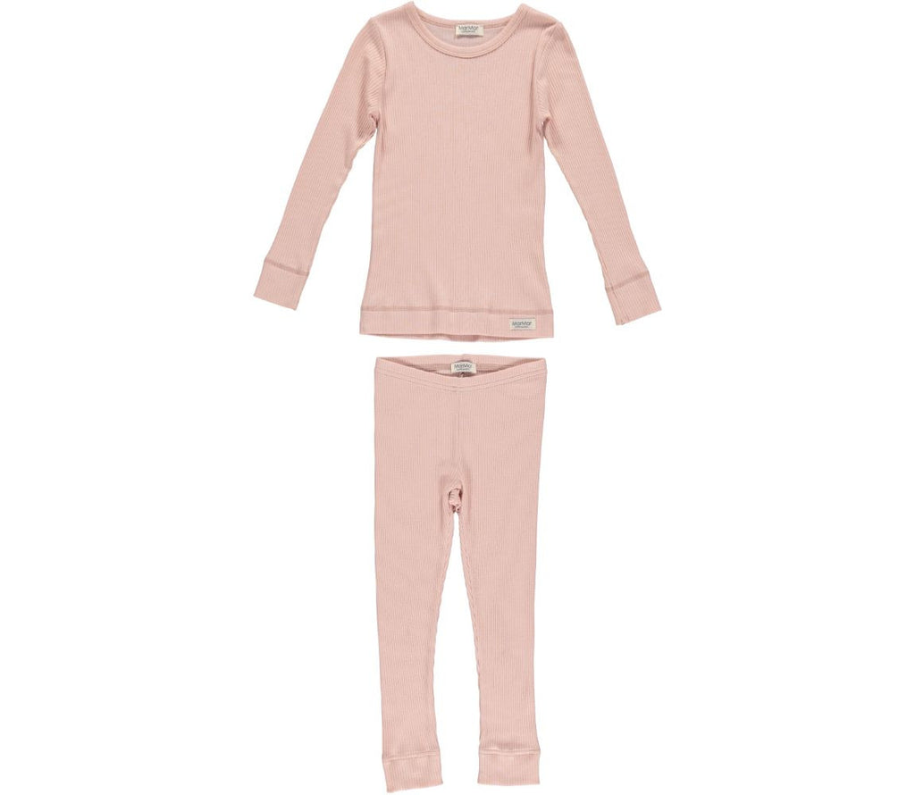 MARMAR COPENHAGEN Mini PJs Pyjamas in Cameo Rose Blush Pink Stylish Modern Danish Scandinavian Kids Sleepwear
