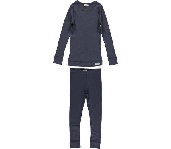 MARMAR COPENHAGEN Mini PJs Pyjamas in Ombre Blue Navy Stylish Modern Danish Scandinavian Kids Sleepwear
