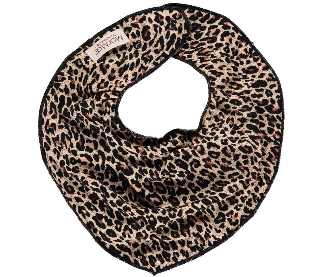 MARMAR COPENHAGEN Baby Bib in Leopard Print Brown Stylish Modern Danish Scandinavian Baby Essentials