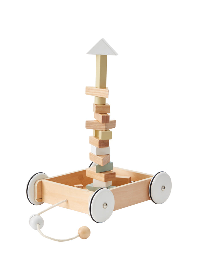 KID'S CONCEPT - Wagon with Blocks