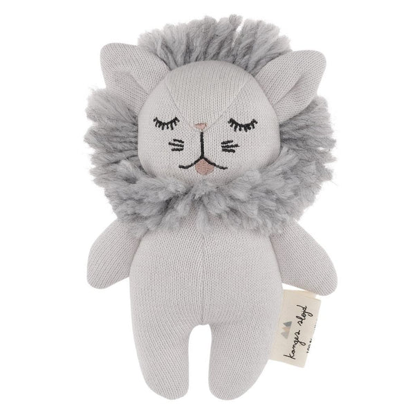 Konges Slojd mini lion soft toy and rattle organic cotton new baby toy Scandinavian style