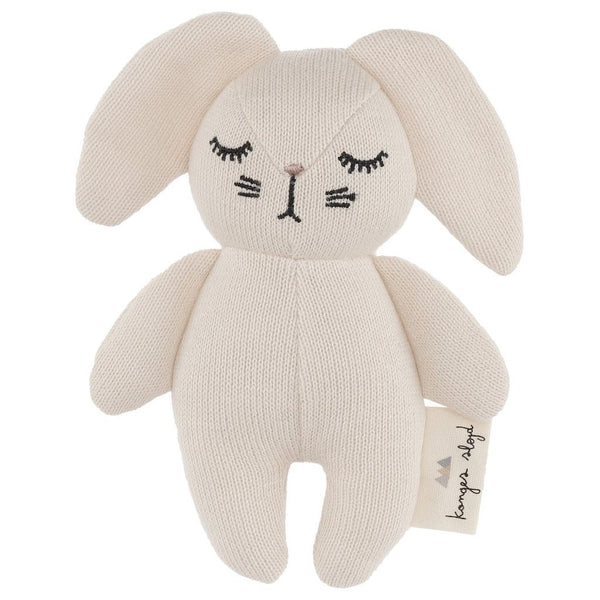 Konges Slojd mini rabbit soft toy and rattle organic cotton new baby toy Scandinavian style