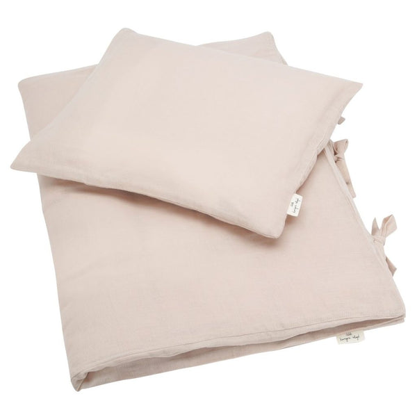 KONGES SLØJD - Muslin Cot Bed Duvet Set - Light Rose