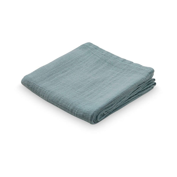 CAM CAM COPENHAGEN Baby Muslin Cloth in Petroleum Blue