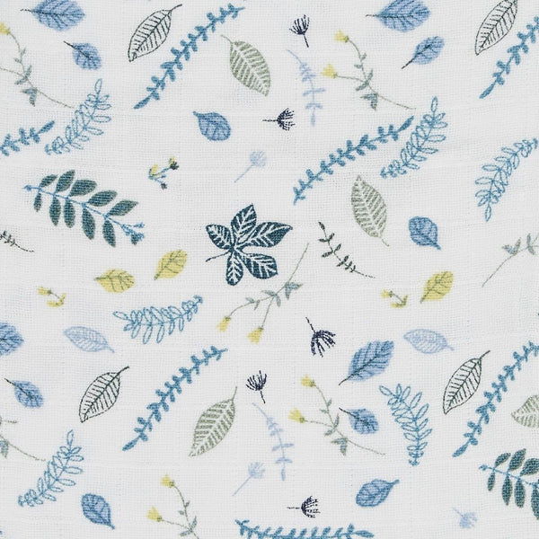 CAM CAM COPENHAGEN - Baby Muslin Cloth - Pressed Leaves Blue