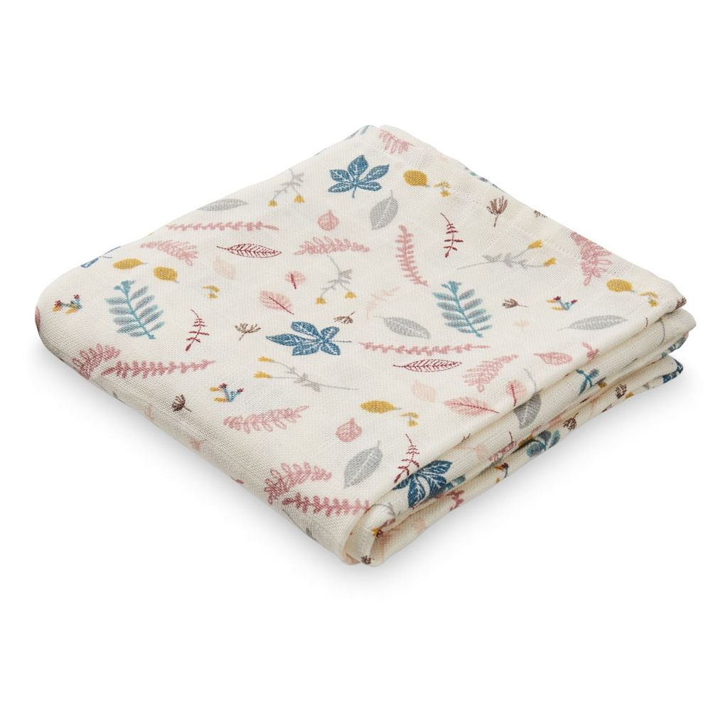 CAM CAM COPENHAGEN - Baby Muslin Cloth - Pressed Leaves Rose