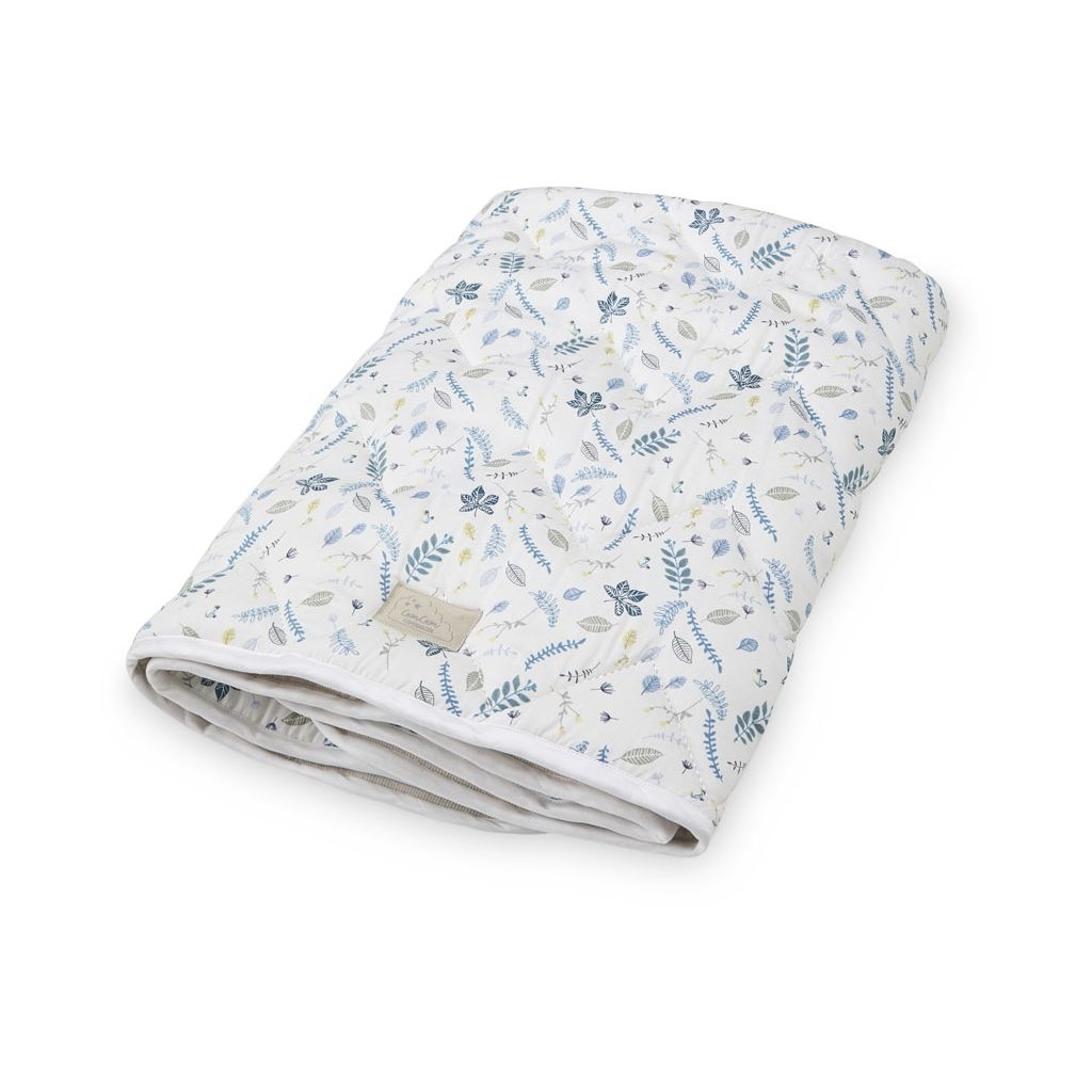 CAM CAM COPENHAGEN - Quilted Baby Blanket/Playmat - Pressed Leaves Blue