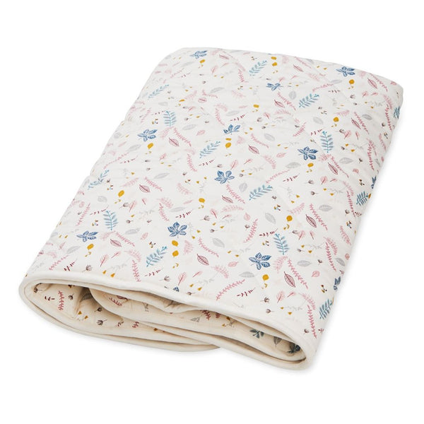 Cam Cam Copenhagen Scandinavian brand Copenhagen Denmark sustainable organic cotton production timeless contemporary design for babies children and home baby blanket play mat pressed leaves print