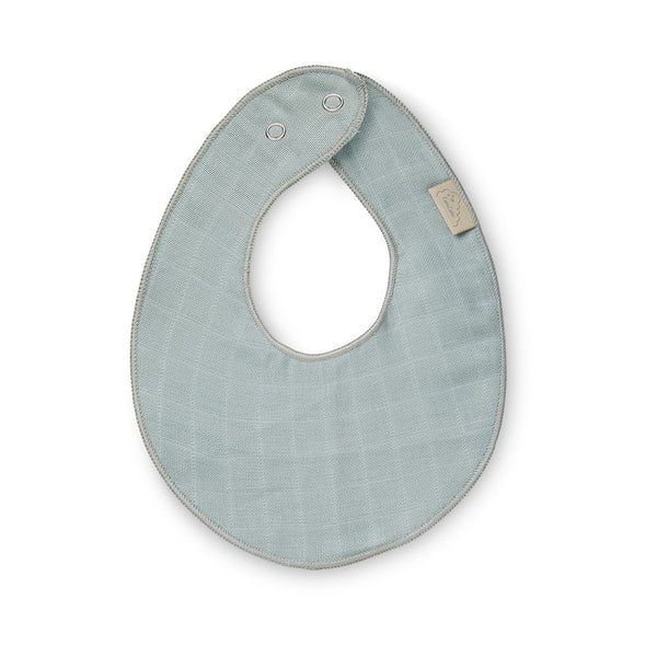 CAM CAM COPENHAGEN Baby Muslin Teething Bib in Petroleum Blue