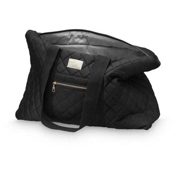 Beautiful black organic cotton quilted weekend bag by Cam Cam Copenhagen