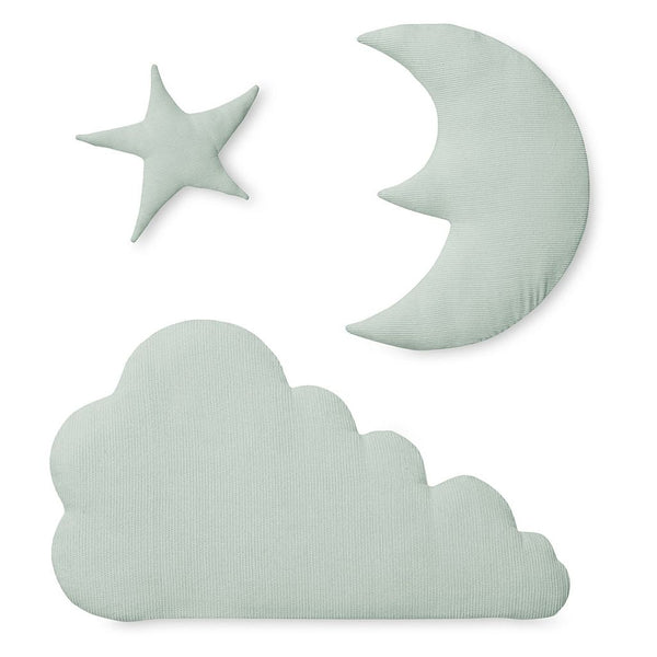 CAM CAM COPENHAGEN - Cloud, Moon and Star Wall Decoration - Mint
