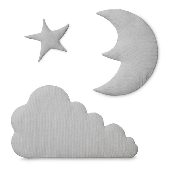 CAM CAM COPENHAGEN - Cloud, Moon and Star Wall Decoration - Grey