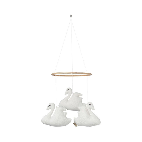CAM CAM COPENHAGEN - Triple Swan Mobile - Off White