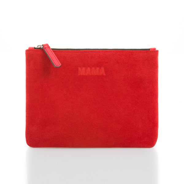 JEM + BEA - Mama Clutch - Red Suede
