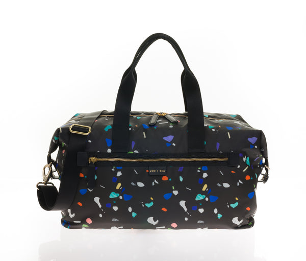 JEM + BEA Edie Weekender Funfetti. Modern stylish changing bags and accessories. UK stockist. Free shipping. Discount when subscribe for newsletter.