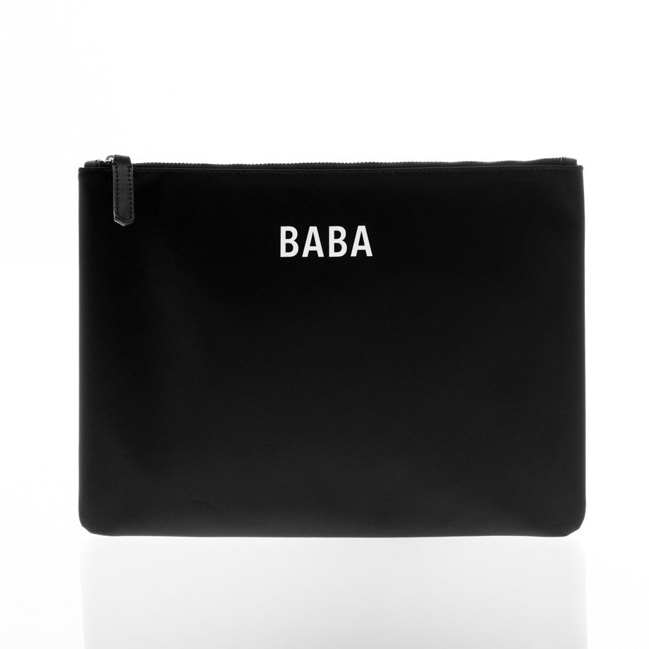 JEM + BEA Baba Clutch Black. Modern stylish changing bags and accessories. UK stockist. Free shipping. Discount when subscribe for newsletter.