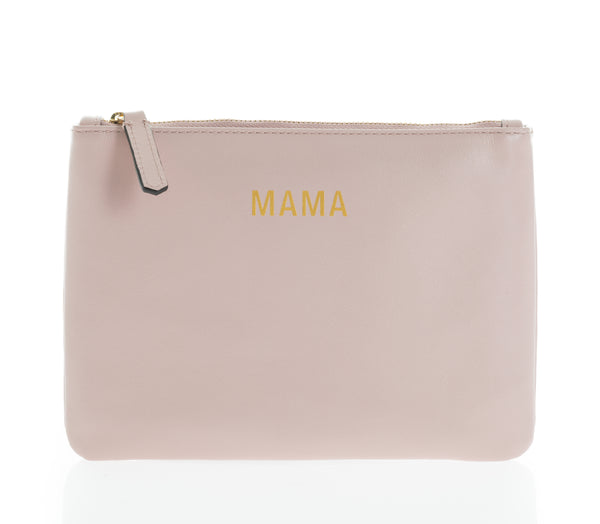 JEM + BEA Mama clutch blush pink leather. Modern stylish changing bags and accessories. UK stockist. Free shipping. Discount when subscribe for newsletter.