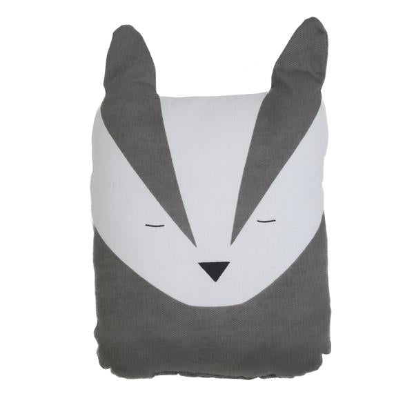 FABELAB - Animal Cushion - Bold Badger