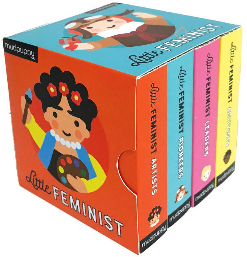 BOOK - LITTLE FEMINISTS BOARD BOOK SET by Galison Mudpuppy