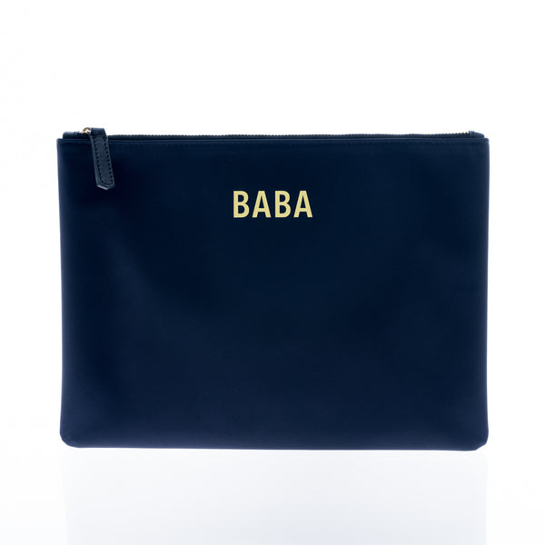 JEM + BEA Baba Clutch Navy. Modern stylish changing bags and accessories. UK stockist. Free shipping. Discount when subscribe for newsletter.