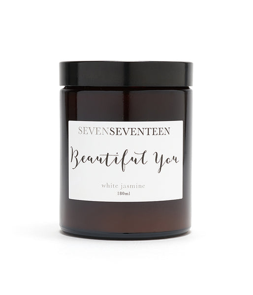 "SEVEN SEVENTEEN - ""Beautiful You"" Candle - White Jasmine"