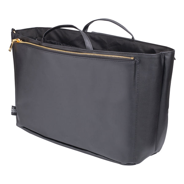 Original Black Insert by The Nappy Society. Inserts allow modern mamas to turn any tote bag into a changing/diaper bag. Fits inside medium and large totes/handbags. Available in two colours and two sizes. Free UK shipping on all orders over £49. 10% discount when you subscribe to our newsletter.