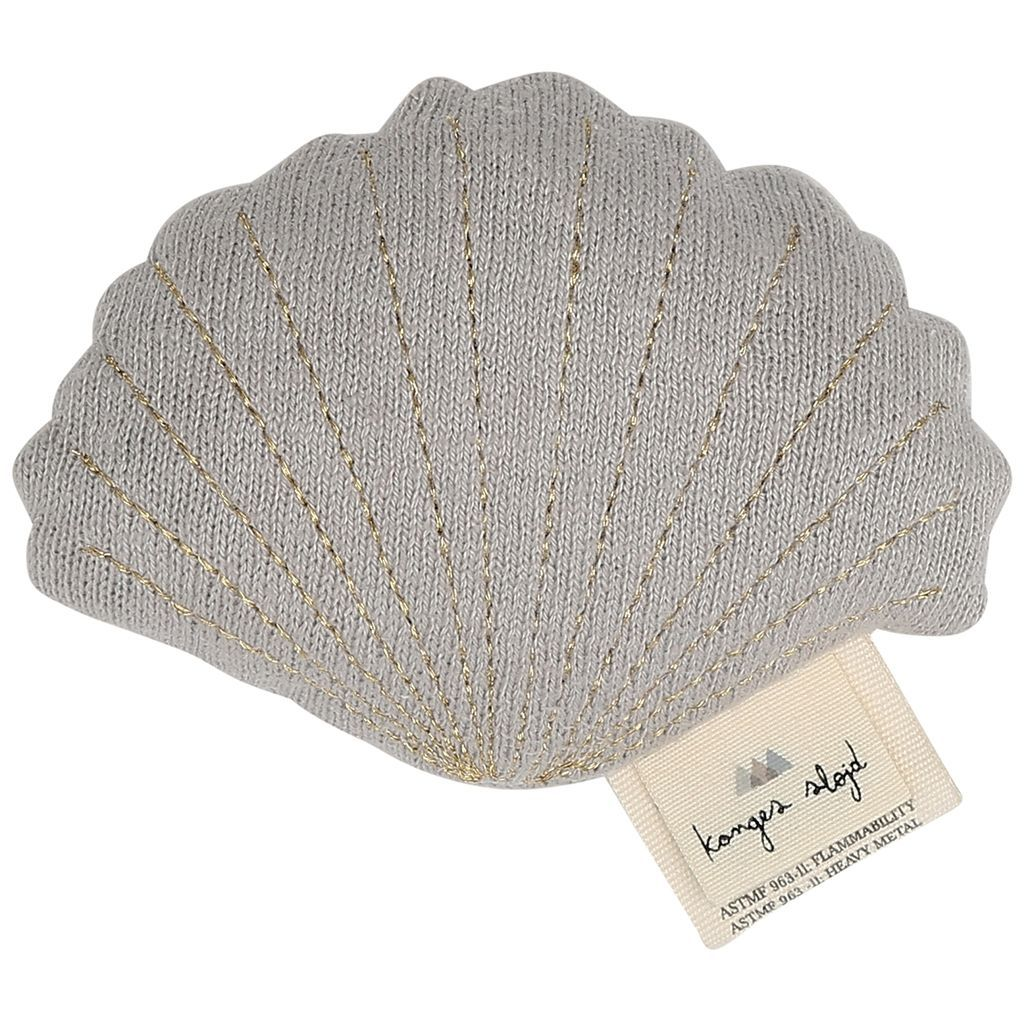KONGES SLØJD - Rattle - Clam Shell Grey Melange
