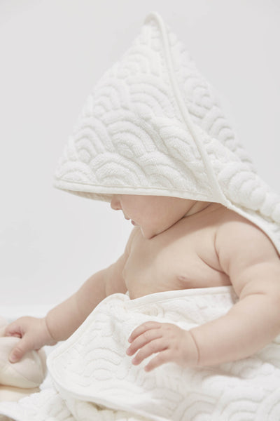 CAM CAM COPENHAGEN - Baby Hooded Towel - White
