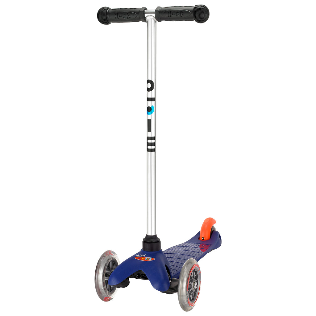 Blue Mini Micro classic scooter by Micro Scooters suitable from 3 to 5 years. Free delivery. Discount for newsletter subscribers.