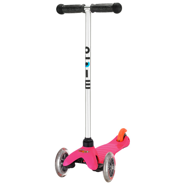 Pink Mini Micro classic scooter by Micro Scooters suitable from 3 to 5 years. Free delivery. Discount for newsletter subscribers.