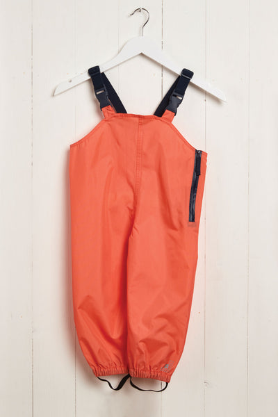 Coral Stomper Slacks waterproof wader trousers by British brand Grass & Air - modern, stylish rainwear for kids