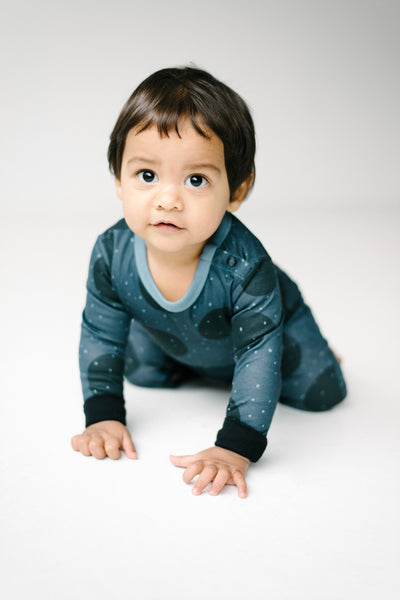 The Bright Company design led organic and ethical sleepwear and loungewear for modern families monty sleepsuit