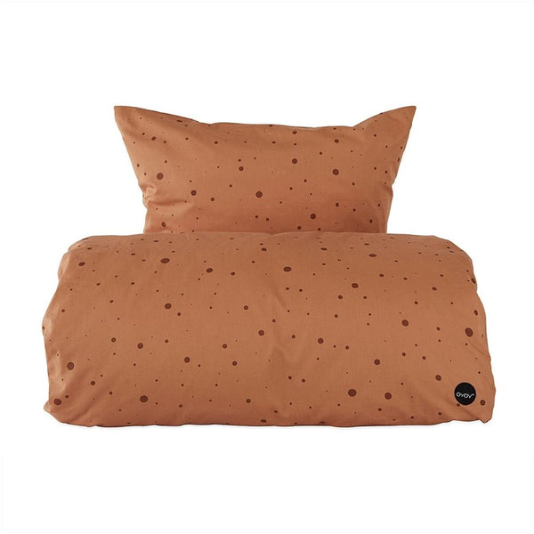OYOY - Cot Bed - Dot Bedding Caramel