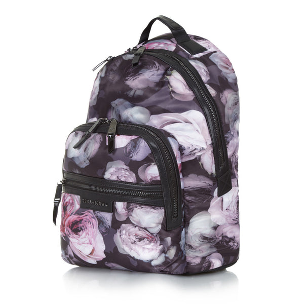 Tiba + Marl - stylish, unisex changing and weekend bags for modern parents Elwood Goth Floral