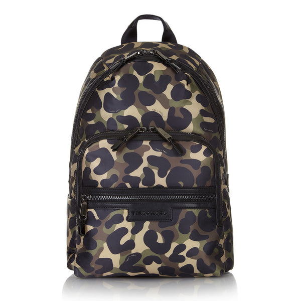 Tiba + Marl - stylish, unisex changing and weekend bags for modern parents - Elwood camo snake rucksack