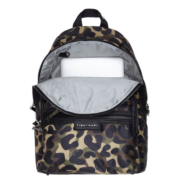 TIBA + MARL Elwood Backpack Rucksack Camo Changing Bag Stylish Modern Unisex